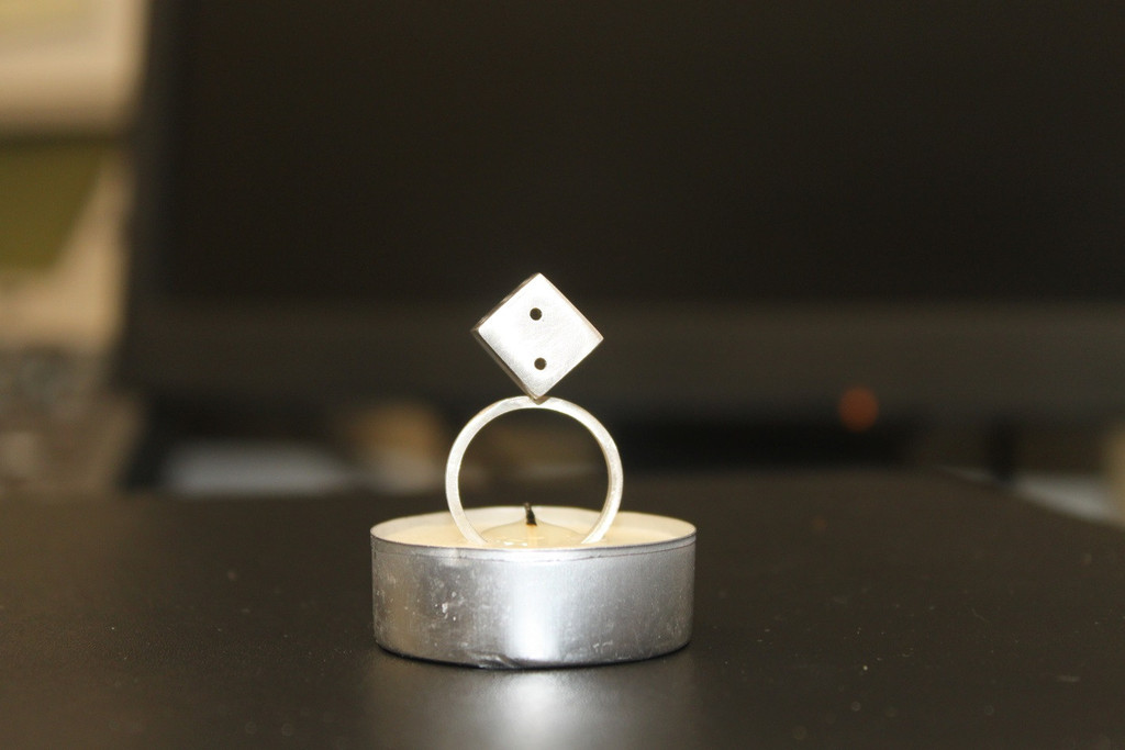Dice Silver Ring