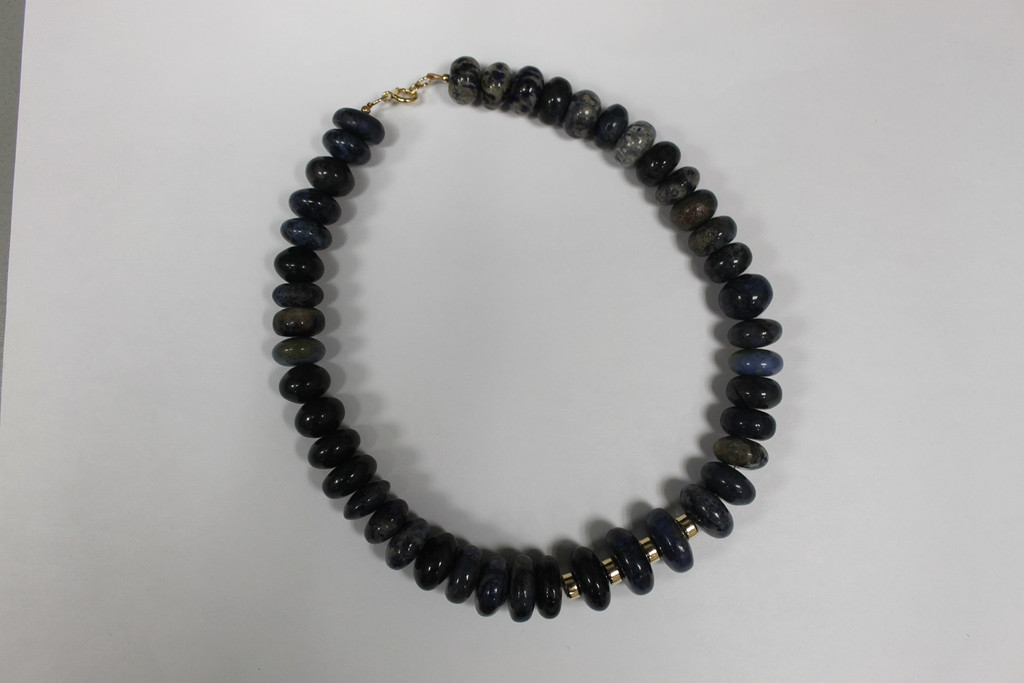 Blue Dumortierite Necklace with 14K Gold-Filled Clasp