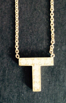 14K Gold Diamond Necklace T
