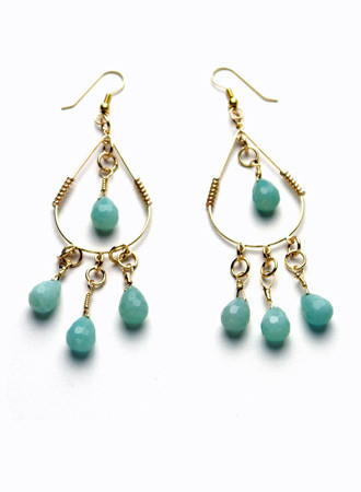 Amazonite 14K Gold-Filled Earrings