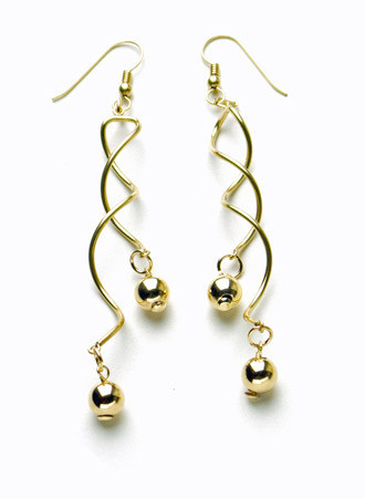 14K Gold-Filled Double Helix Earrings