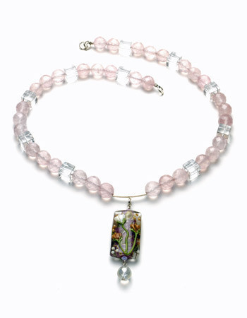 Rose Quartz/Crystal Quartz Necklace